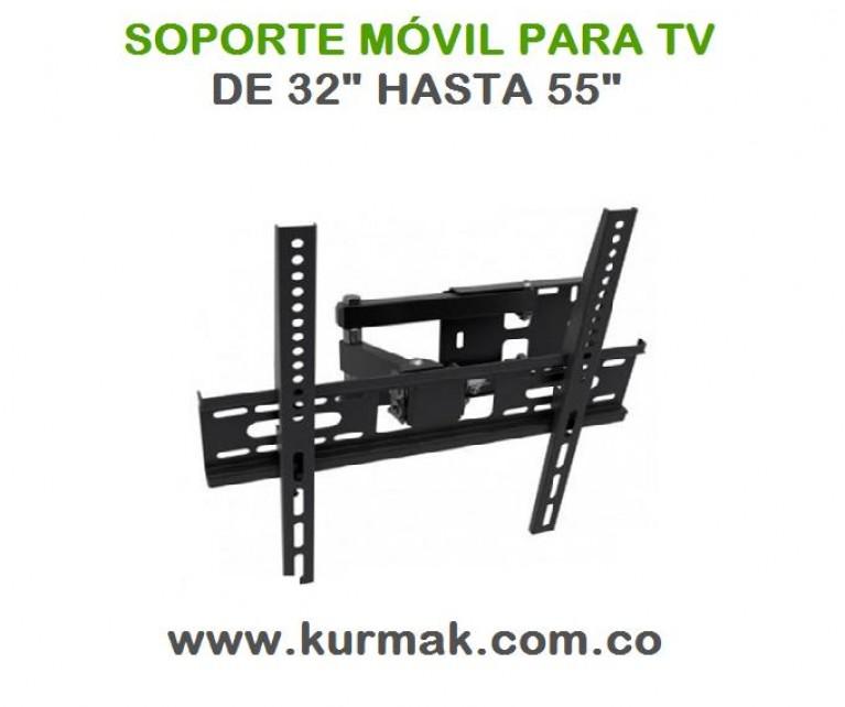 SOPORTE MÓVIL PARA TV DOBLE BRAZO DE 32 HASTA 55 PULGADAS