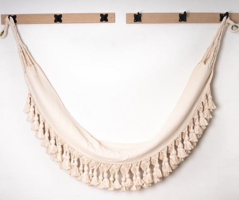 Hamacas clásicas en algodón con macramé